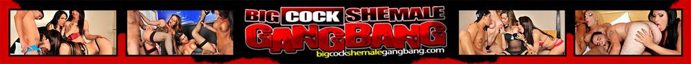Big Cock Shemale Gangbang